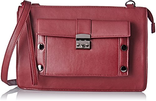 Lollipops - Ashton Xl Clutch, Borse a tracolla Donna Rosso (Wine)