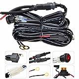 KAWELL Kabelbaum Kabelsatz Adapter 40 Ampere Relais ON/OFF Schalter Kit stützen 300W für Off Road ATV Nebelscheinwerfer Arbeitslicht LED Lichtleisten (2 Blei 9ft )
