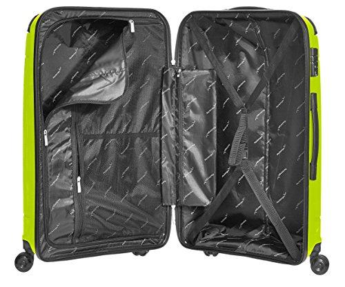 Packenger Premium Hartschalen Trolley Handgepäck PP Koffer Silent 20 Zoll (Hellgrün) -