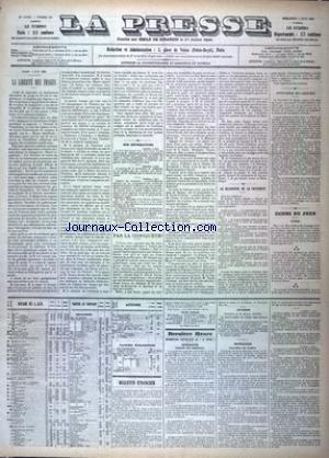 PRESSE (LA) [No 157] du 06/06/1883