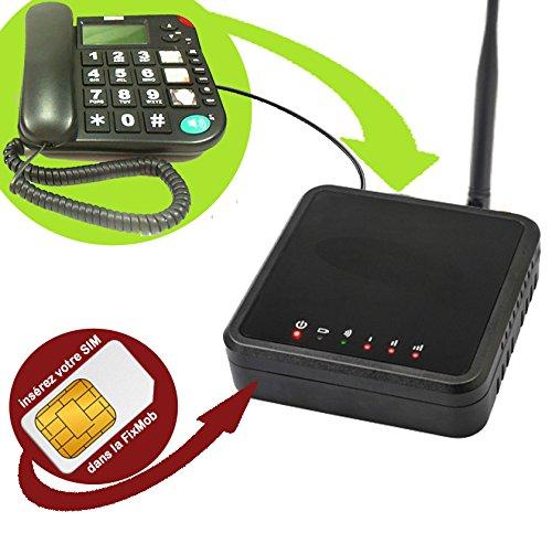 Mobiho Essentiel La FixMob innovation Mobiho - Combine fixe senior. Transformez votre combiné fixe en mobile. DEBLOQUE TOUT OPERATEUR