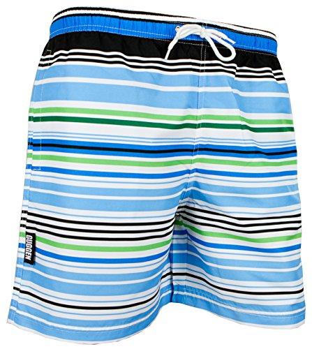 GUGGEN Mountain Herren Badeshorts Beachshorts Boardshorts Badehose Schwimmhose Männer gestreift Print* Farbe Gestreift M