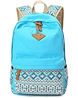 YAAGLE Spot Printing Canvas Backpack Fashion School Student Bag Shoulder Bag Backpack Rucksack for Boys and Girls