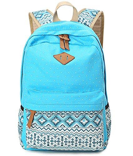 yaagle-spot-printing-canvas-backpack-fashion-school-student-bag-shoulder-bag-backpack-rucksack-for-b