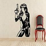 guijiumai Adesivo murale Supereroe Adesivo in Vinile Home Art Dc Marvel s Decorazione murale Adesivi murali Rimovibili Neri 50 x 80 cm