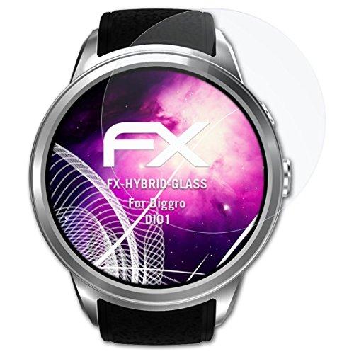 atFoliX Pellicola Protettiva in Vetro plastica compatibile con Diggro DI01 Pellicola Vetro, 9H Hybrid-Glass FX Vetro temperato da...