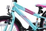BIKESTAR Premium Sicherheits Kinderfahrrad 20 Zoll für Mädchen und Jungen ab 6 Jahre ? 20er Kinderrad Mountainbike ? Fahrrad für Kinder Berry & Türkis Vergleich