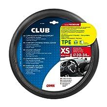 Lampa 32982 TPE Club Steering Wheel Cover, Black/Black, 30-34 cm