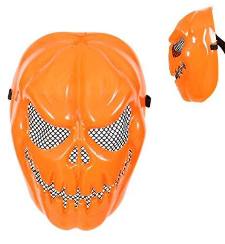 Myers Beängstigend Michael (Halloween Maske Kürbis für Erwachsene Universalgröße Unisex Halloween Kürbismaske Halloweenmaske Kunststoffmaske Kostümzubehör Halloweenzubehör Verkleidung)