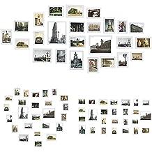 Titolo: Sungle Portafoto multiplo da parete Cornice per foto in Legno Set di 26 pezzi. (bianco)
