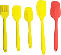 MasterStor Silicone Spatula Set of 5 - Nonstick Heat Resistant Kitchen Cooking Utensil Baking Tools Set -for Cooking, Baking & Mixing