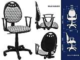 Best For Office Moderner Bürostuhl Höhenverstellung Schreibtischstuhl MAJA Modell (MAJA KUBUS M)