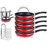 EVER RICH ® - Organizador de ollas con altura ajustable, 5 estantes, para cocina