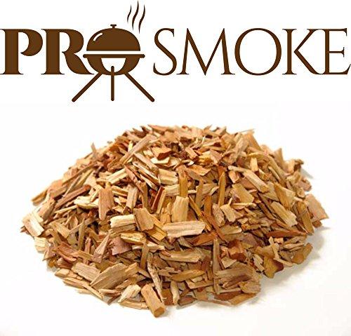 Hackschnitzel zum Grillen aus einer Premium-Mischung von Erle, Buche und Kirsche von Pro Smoke, 6 Liter (Kirsche Erle)