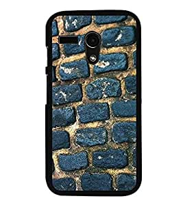 Fuson Premium 2D Back Case Cover Brick Pattern With Yellow Background Degined For Motoroal Moto G Turbo Edition