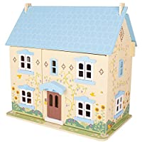 Bigjigs Toys Heritage Playset Sunflower Cottage - Wooden Doll House