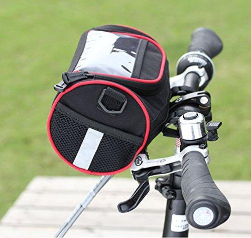 Anself ROSWHEEL pliant sac de guidon vélo VTT sac à panier sacoche à vélo avec une pochette transparent pour carte GPS