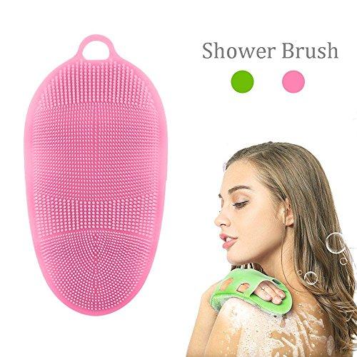 Scheda dettagliata Pawaca morbido silicone pelle spa massaggio corpo spazzola esfoliante corpo scrubber bagno guanto viso lavaggio detergente, per pelli sensibili e tutti i tipi, senza BPA, approvato FDA