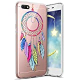 Coque Huawei Y6 Pro 2017,Huawei Y6 Pro 2017 Housse Etui,Surakey Étui TPU Silicone Souple Coque Clair Transparent Cover Ultra Mince Soft Case Housse Protection pour Huawei Y6 Pro 2017 (Campanule)