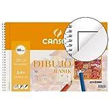 Canson Dibujo Basik Recuadro, Álbum Espiral Microperforado, A4+ (23x32,5 cm) 20 Hojas 130g