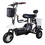 Wgw Le Mini Tricycle électrique Se Pliant, Bicyclette de contrôle de Batterie au Lithium 48V, Dames ramassent des Enfants Se Pliant la Voiture électrique (Peut Supporter 200KG),D