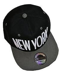 Neues Modell New York Snapback Cap (schwarz grau weiß)