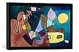 Gerahmtes Bild von Paul Klee Dramatische Landschaft, Kunstdruck im hochwertigen handgefertigten Bilder-Rahmen, 60x40 cm, Schwarz matt