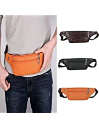 Buyworld Fashion Women Men Waist Bag Unisex Casual Zipper Unisex Waist Fanny Pack Bag