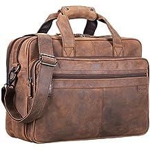 a636888b3e750 STILORD  Atlantis  Leder Aktentasche groß Vintage Lehrertasche  Arbeitstasche große Ledertasche Businesstasche zum Umhängen Trolley