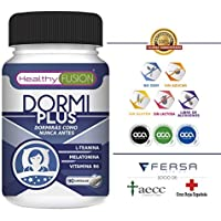 DORMIPLUS – MELATONINA PURA 100% + L-TEANINA + VITAMINA B6 - El Producto Para Dormir Más Potente, Completo y Eficaz.