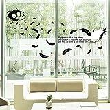 Custom Wall Stickerthe United States Feather Angel Glass Window Wardrobe Decorative Wall Stickers Creative Stickers
