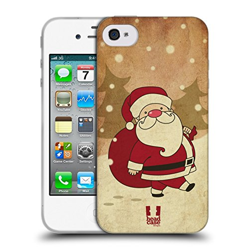 Head Case Designs Babbo Natale Classici Di Natale Cover Morbida In Gel Per Apple iPhone 7 Plus / 8 Plus Babbo Natale