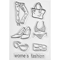 MaGuo Women's Fashion Clear Stamps Pants, Heels, Bags, Glasses, Underwear for Paper Craft