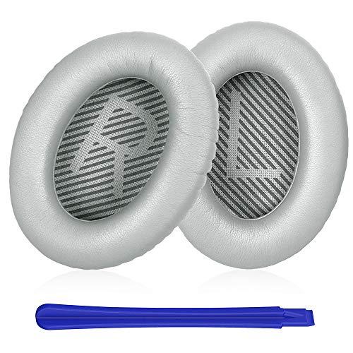 TesRank Coussinets de Remplacement pour Casques Bose Quiet Comfort QC 2 15 25 35 AE2 AE2i AE2w, Argent