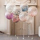 LianLe 10 Stk 18 zoll Konfetti Luftballons für Geburtstagsfeier Hochzeit Party Deko