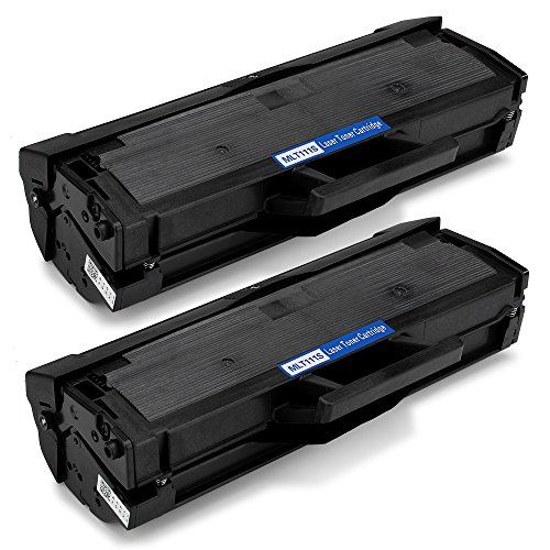OfficeWorld MLT-D111S Toner Cartouches de toner Compatible pour Xpress M2070FW M2026W M2026 M2070W M2020W M2020 M2022 M2022W M2070, 2 Noir