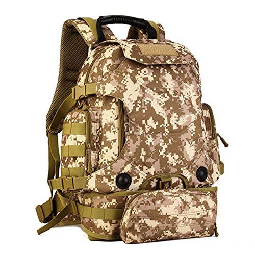 Cinmaul tattico militare zaino Zaino assalto molle modulare attacchi grande Duty Gear borsa zaino con patch Outdoor Gear per caccia di campeggio trekking, Uomo, Black Desert Camouflage