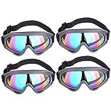 Lommer Schutzbrillen für Nerf, 4 Stück Schutzbrillen Zum Schutz der Augen Schutzbrille Goggles Gläser Glasses für Nerf, CS, Paintball Spiele