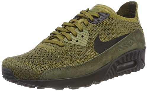 Jordan Lebron Schuhe, James (Nike Herren Air Max 90 Ultra 2.0 Flyknit Sneaker, Grün (Olive Flak/Black-Cargo Khaki 302), 38.5 EU)