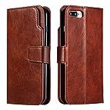 Coque iPhone 8 Plus Case, iPhone 7 Plus, Etui en Cuir Portefeuille avec [Protecteur...
