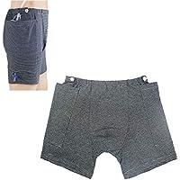UUK Cuidados para La Incontinencia Pantalones para Personas Mayores, Pantalones De Saco De Drenaje De Orina Cirugías Abdominales Paciente (Hombres),XL
