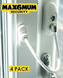 MAX6MUM verrouillage de sécurité bébé/enfant pour fenêtre et porte en PVC Blanc Lot de 4