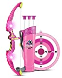 SainSmart Jr. Ensemble de tir à L'arc Kids Bow and Arrow Toy, Princess Basic Archery Set Outdoor Hunting Game with 3 Suction Cup Arrows, Target and Quiver