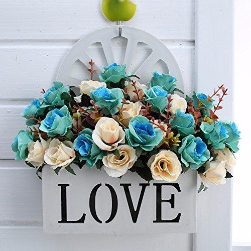 Blumenampel floral Florale emulation Blume Blumen hängende Wand Dekoration Blumen Warenkorb Kit, See Blau