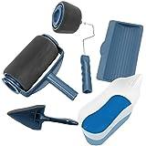 Rullo per Pittura con Serbatoio, MEJOY Pennello a rullo da pittura, 5 PZ/Set di kit per pittura murale Blu