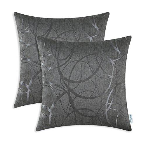 CaliTime Kissenbezüge Kissenhülle Packung mit 2 Wurfkissenbezüge Schalen für Couch Sofa Home Decor Modern Shining &...