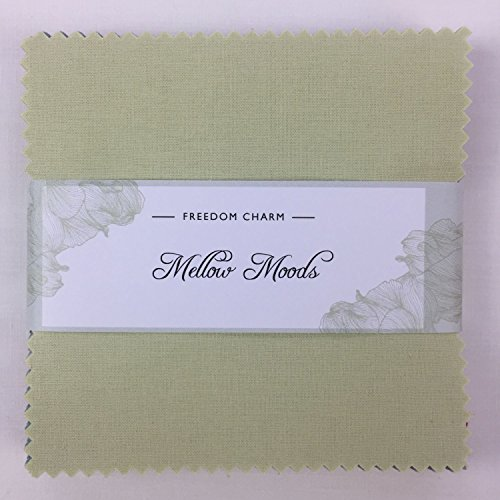 Stoff Freiheit Mellow Moods Charm Pack 42Squares 100% Baumwolle Geschenkbündel viereckig je 12,7cm Breite x 12,7cm Länge Quilten Craft Patchwork Stoff Bundle hergestellt in der UK -
