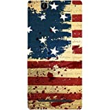 Casotec USA Flag Design Hard Back Case Cover for Sony Xperia T2 Ultra