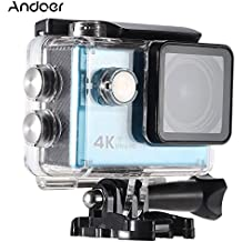 "Andoer Ultra HD Acción Cámara 2.0"" LCD 16MP 4K 25FPS 1080P 60FPS 4X Zoom WiFi 25mm Lente de 173 Grados 30M Impermeable + 16GB Clase 10 TF Tarjeta de Memoria(Azul)"