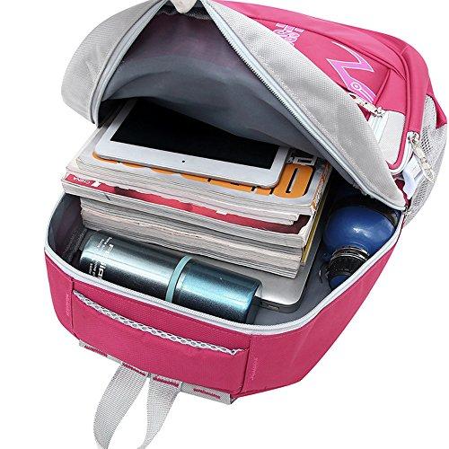Frauen Rucksack neu schreiben Hochschule - Stil gedruckt Schultertasche Pink